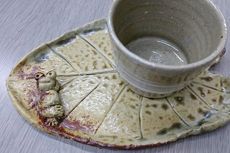 陶芸体験の焼き物が仕上がりました