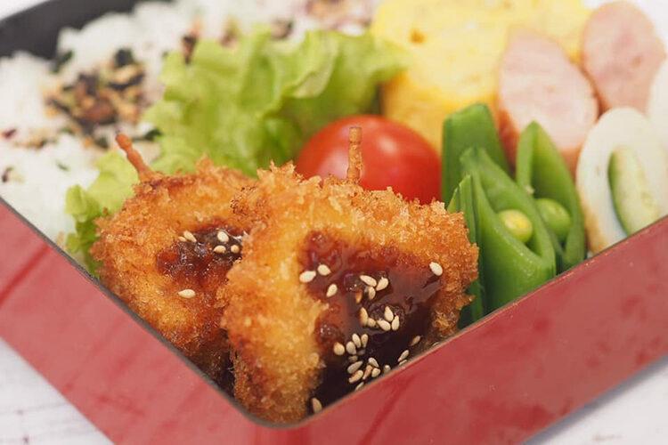 第72回「お弁当レシピ」新タマネギと豚肉の串カツ