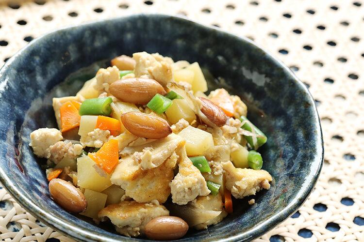 落花生入り炒り豆腐