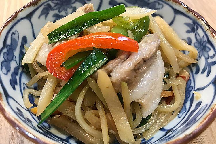 豚肉と島野菜(パパイア)の炒め物